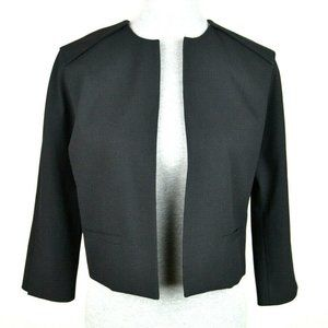 Vince Camuto Cropped Open Front 3/4 Sleeve Blazer